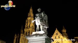 ノートルダム大聖堂とノーベンスの像