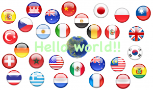 世界のあいさつ(Hello World!!)