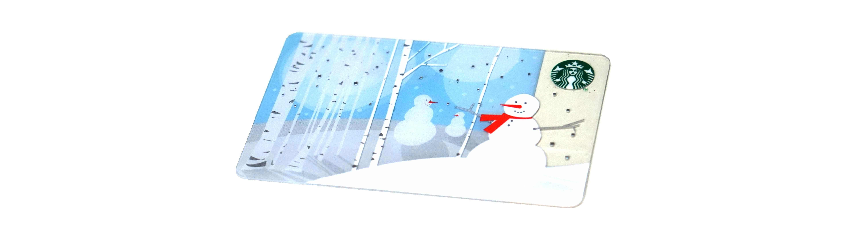 スノーマン・雪だるま(スタバカード)