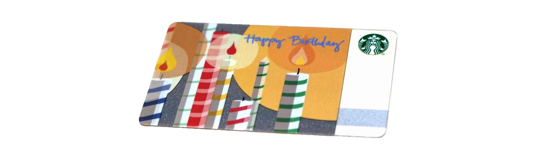 Happy Birthday(スターバックスカード)
