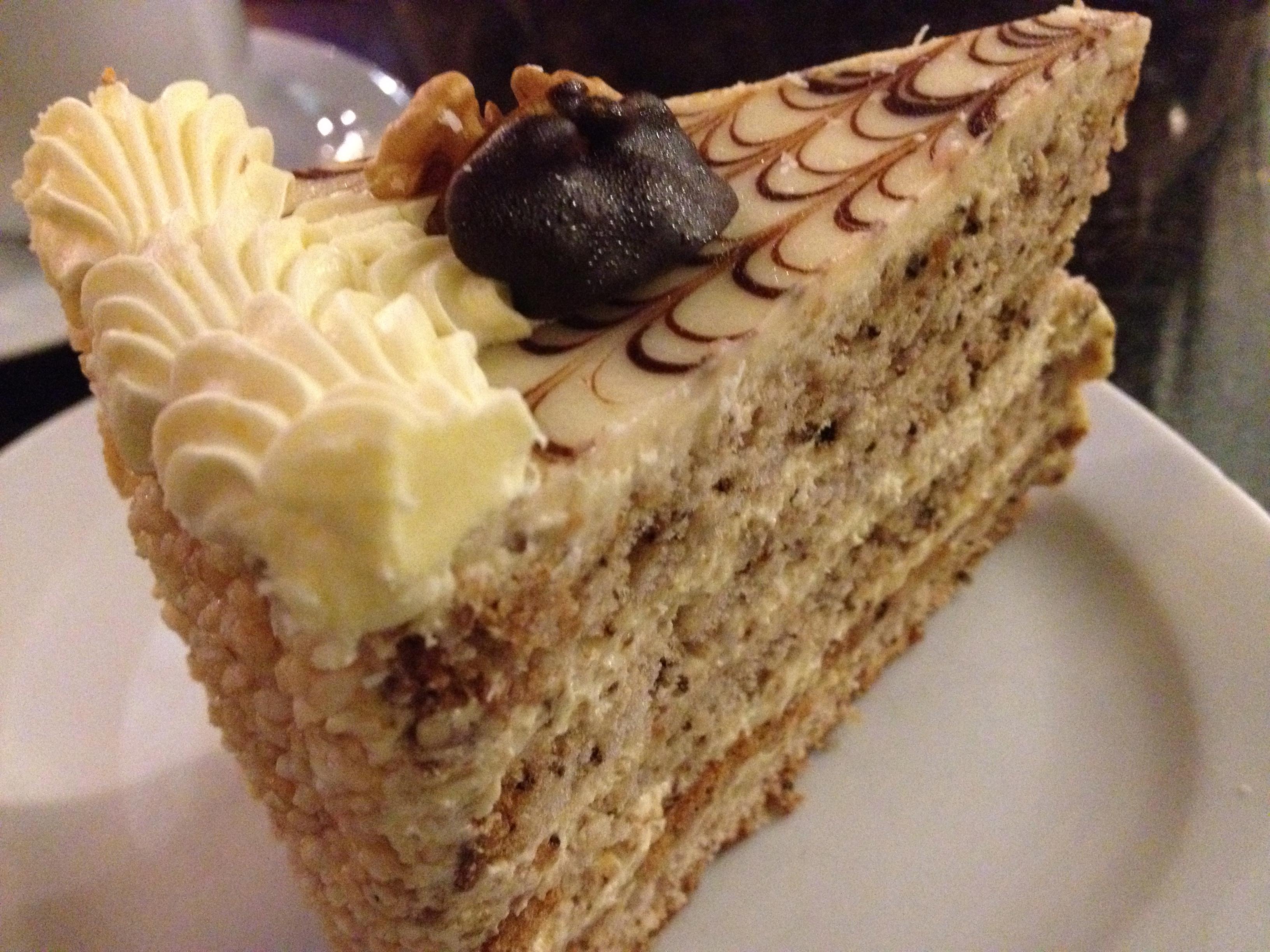 エスターハーズィートルテ~ヘーゼルナッツのケーキ~(オーストリアスイーツ)