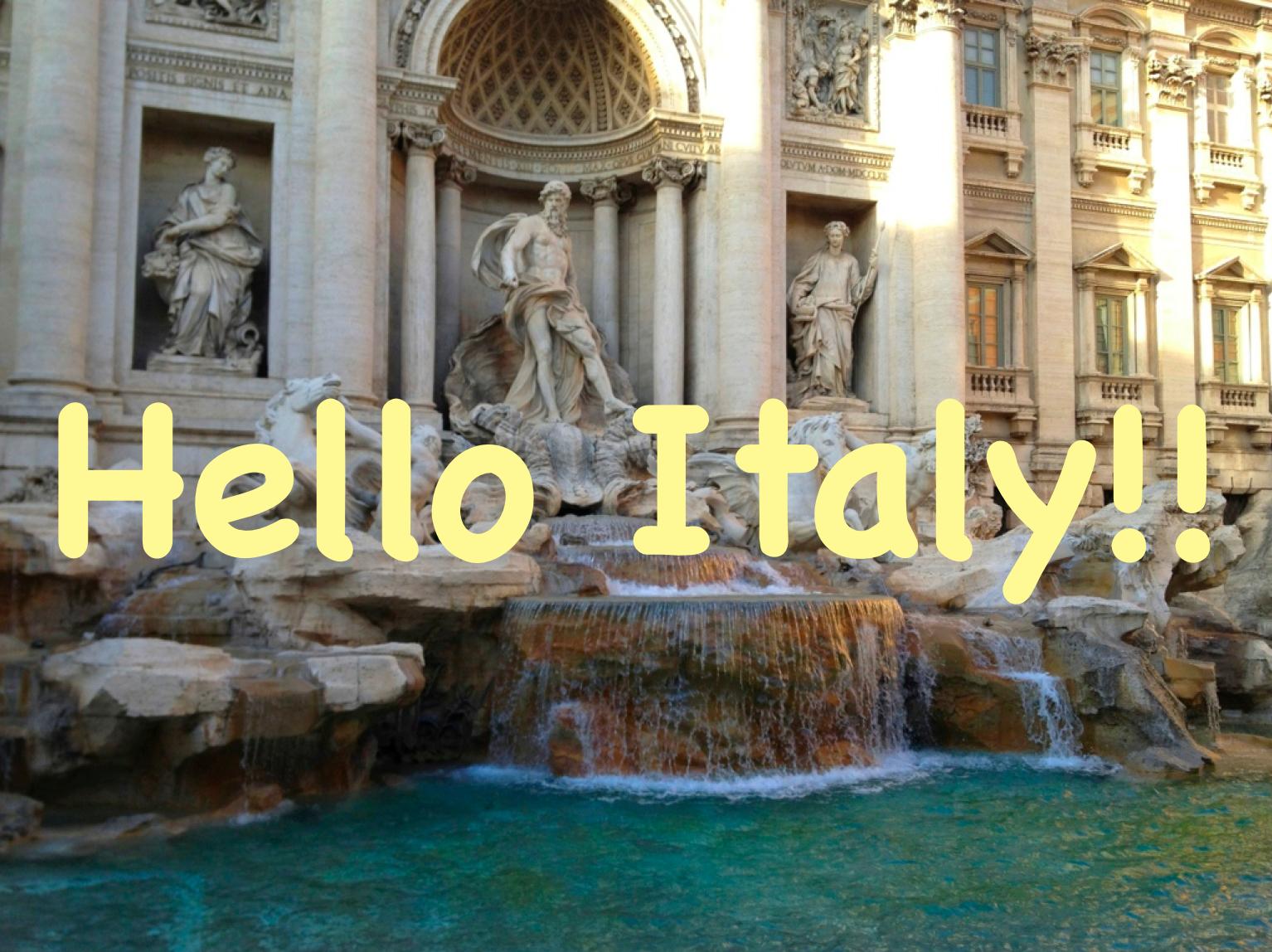Hello Italy!!(トレビの泉)