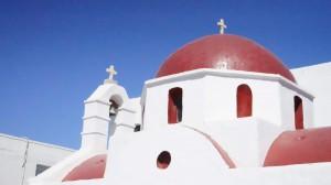 ミコノス島の教会(ギリシャ)