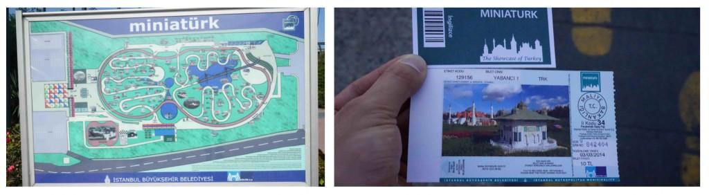 ミニチュアトゥルクマップとチケット