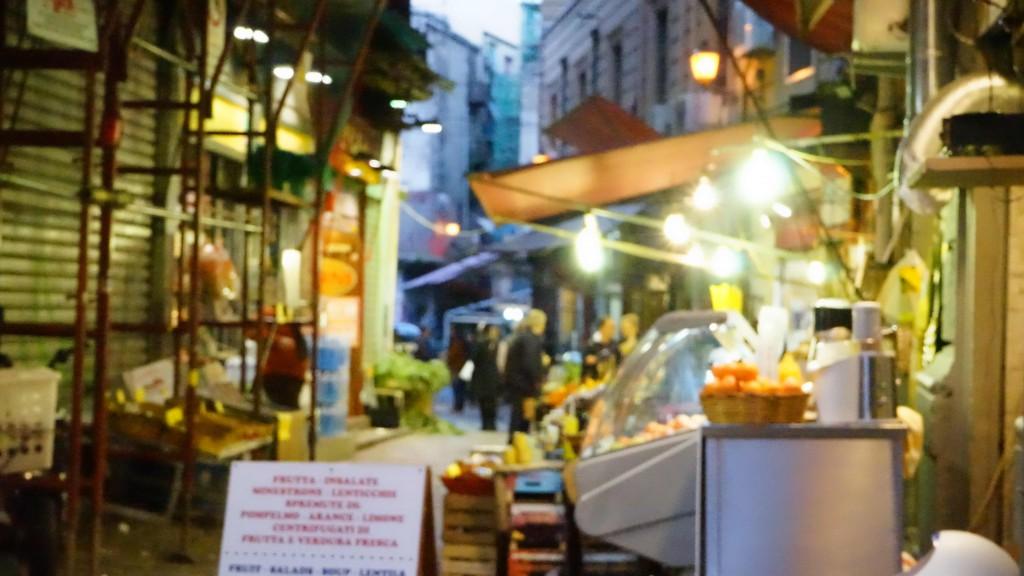 シチリアのグルメ通り(イタリア)