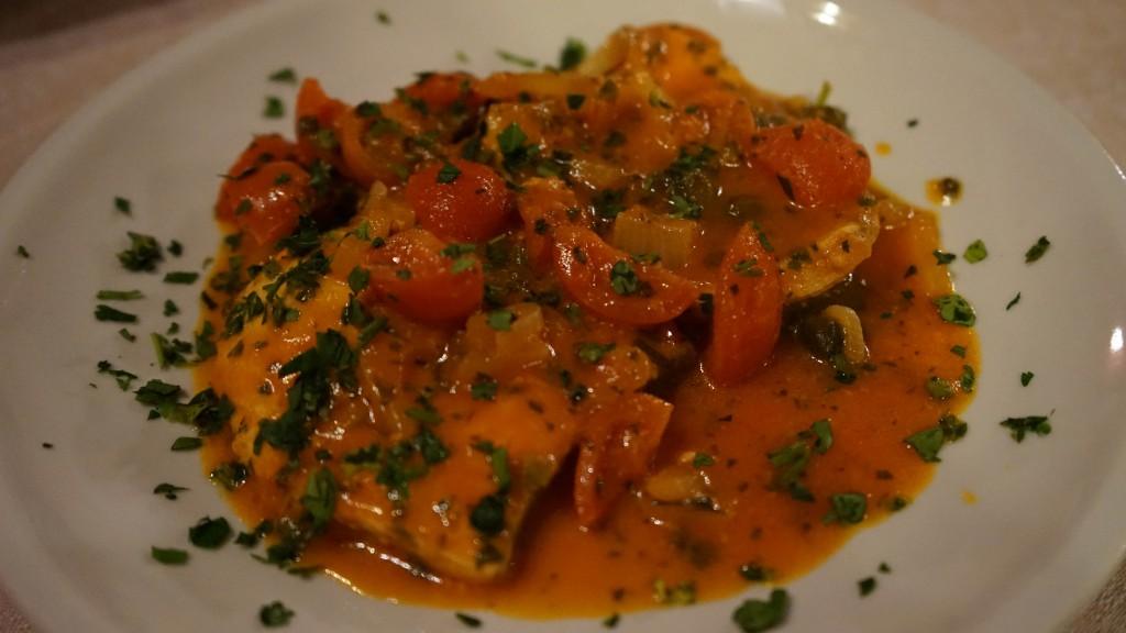 メカジキのトマトソース(シチリア)