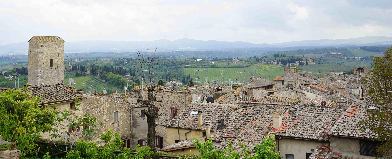 サンジミニャーノの風景(イタリア)