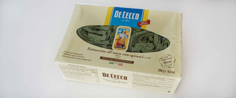 ほうれん草を練り込んだフィットチーネDe Cecco ディ・チェコの乾燥パスタ