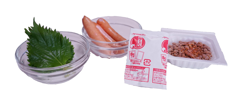 納豆パスタの食材・材料